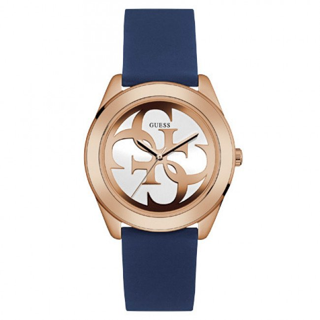 Hodinky GUESS - G Twist W0911L6 BLUE/ROSE GOLD TONE