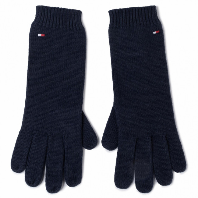 Rukavice Dámske TOMMY HILFIGER - Flag Knit Gloves AW0AW07197 CJM