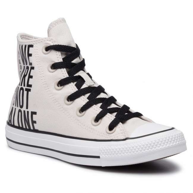 Tramky CONVERSE - Ctas Hi 165468C Pale Putty/Black/White