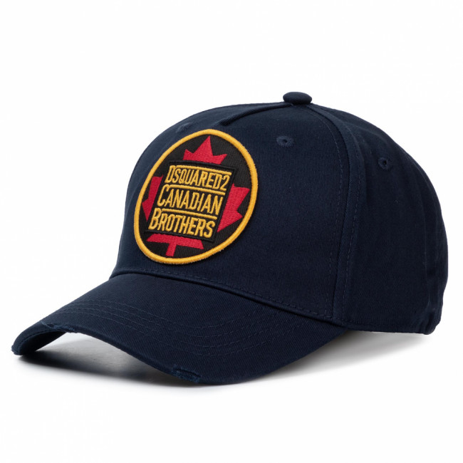 Šiltovka DSQUARED2 - Patch Cargo Baseball Caps BCM0238 05C00001 3073 Navy