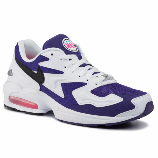 Topánky NIKE - Air Max2 Light AO1741 103 White/Black Court Purple