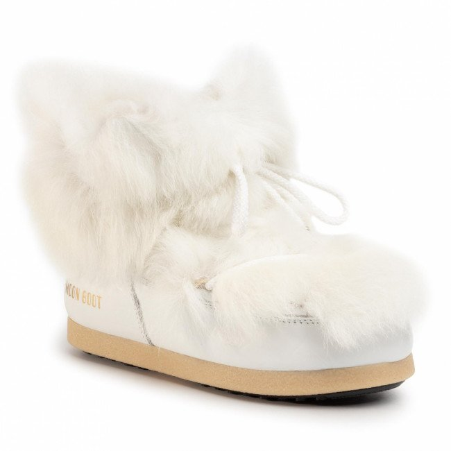 Snehule MOON BOOT - Mb Far Side 50 Low Shearling 24201800001 White