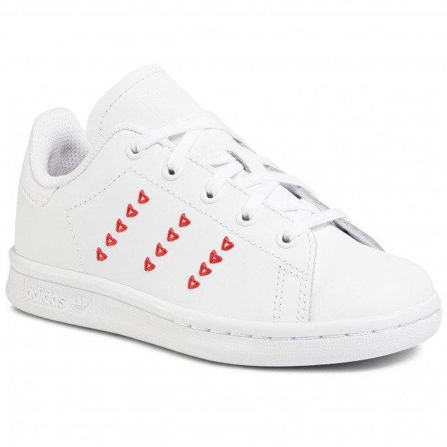Topánky adidas - Stan Smith C EG6500 Ftwwht/Ftwwht/Lusred