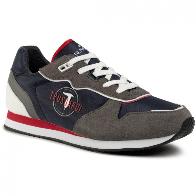Sneakersy TRUSSARDI JEANS - 77A00225 Blue/Grey/Red