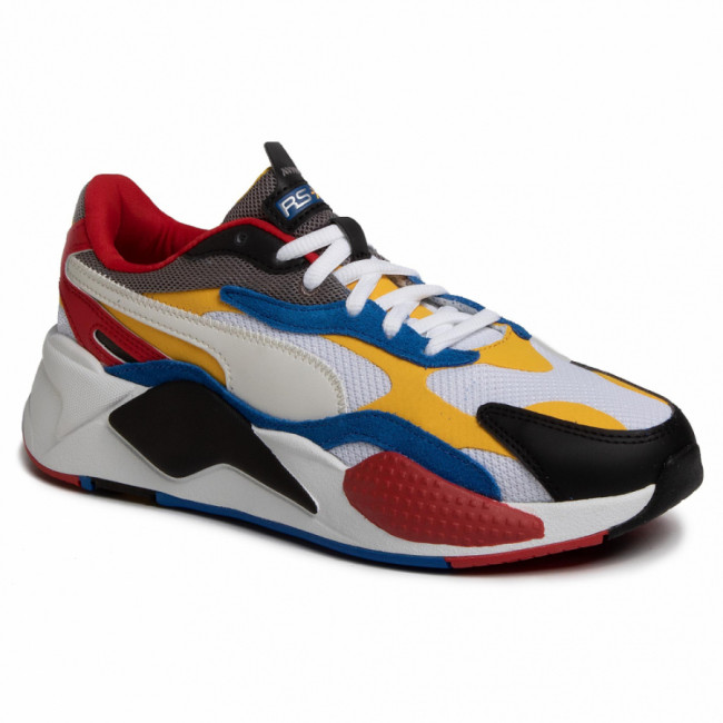 Sneakersy PUMA - Rs-X³ Puzzle 371570 04 Pwhite/Spectra Yellow/Pblack