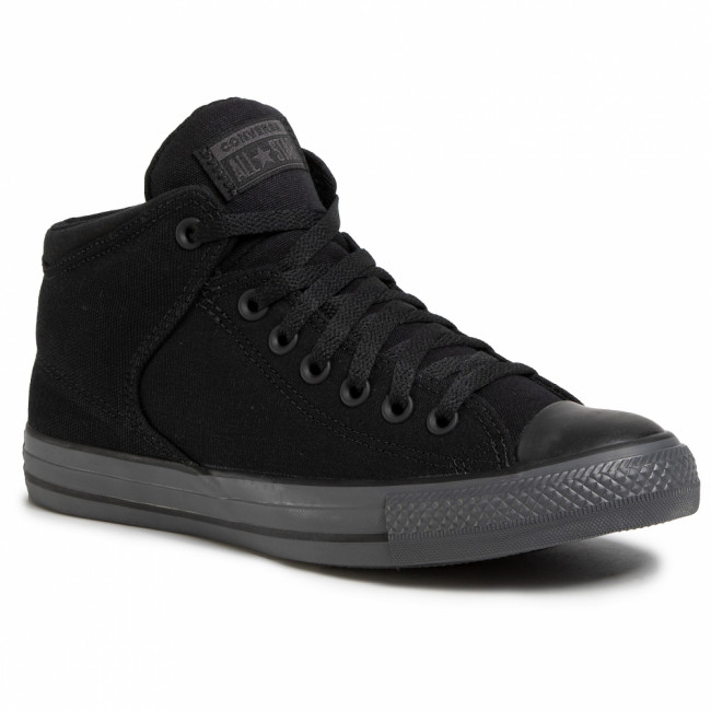 Tramky CONVERSE - Ctas High Street Mid 167189C Black/Black/Almost Black