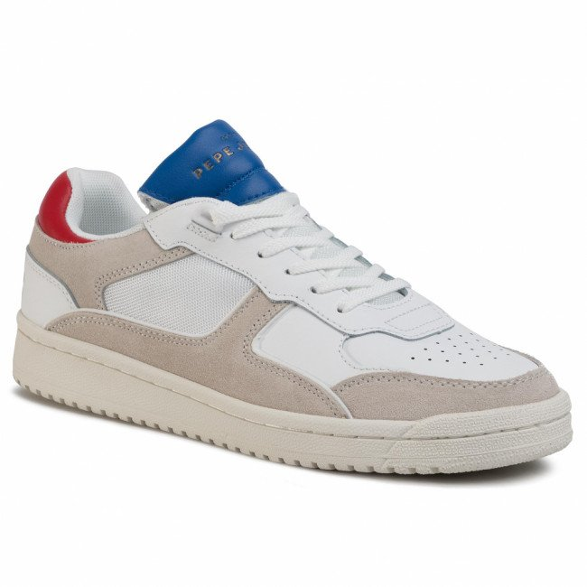 Sneakersy PEPE JEANS - Kurt 1973 PMS30597  Off White 803