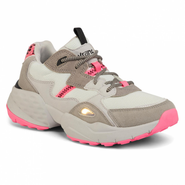 Sneakersy WRANGLER - Iconic 90 Sm WL01650A Grey/Fuxia 705