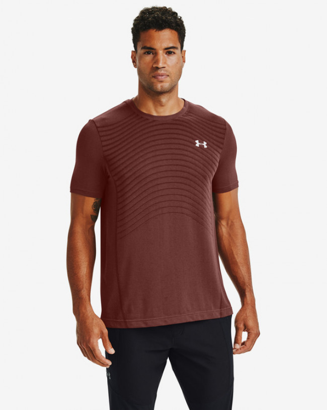 Under Armour Seamless Tričko Červená
