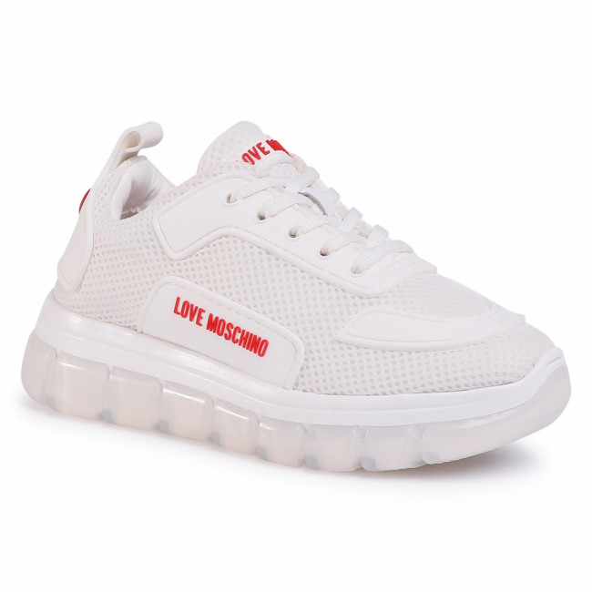 Sneakersy LOVE MOSCHINO - JA15155G0AJS0100 Bianco