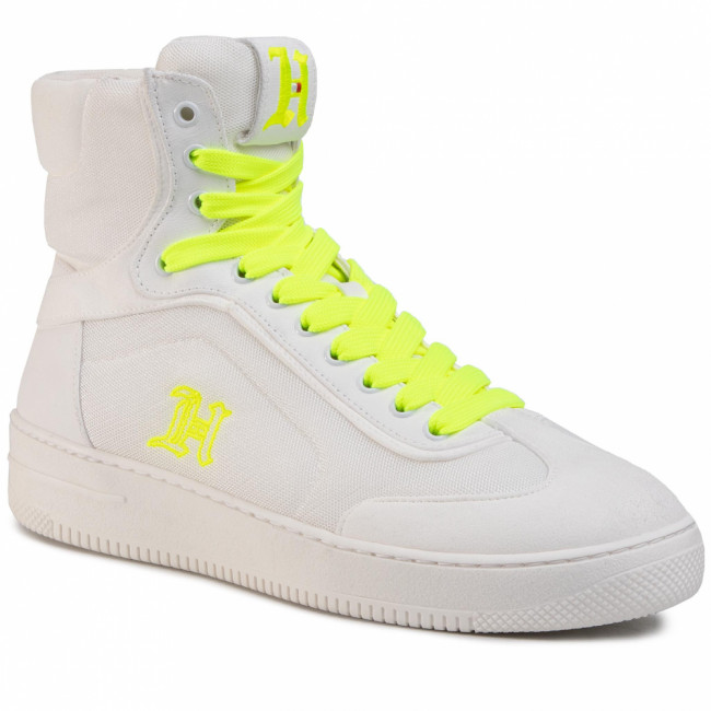 Sneakersy TOMMY HILFIGER - LEWIS HAMILTON LH Modern High Top Sneaker FM0FM02830 Bright White YAF