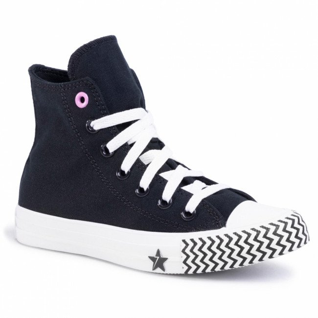 Tramky CONVERSE - Ctas Hi 566731C  Black/University Red/White