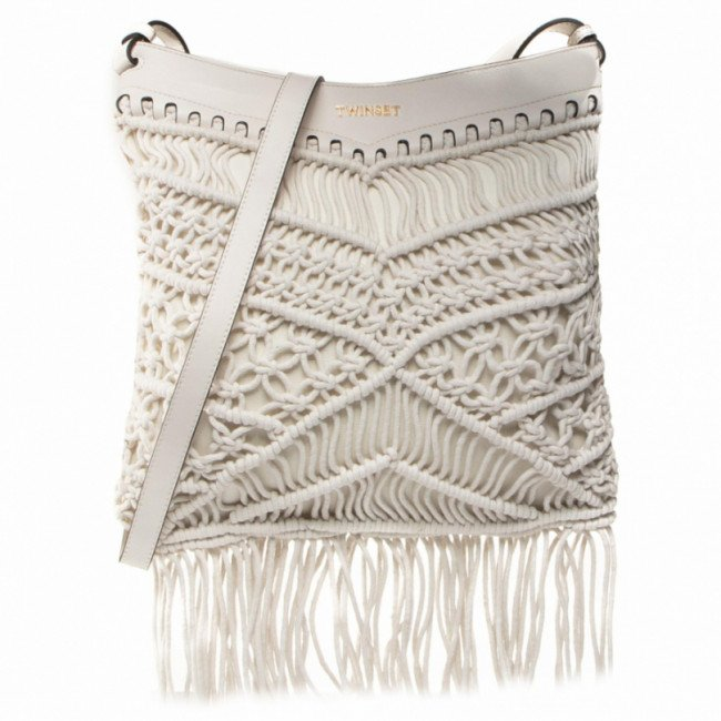 Kabelka TWINSET - Hobo 201TO8131 Antique White 00245