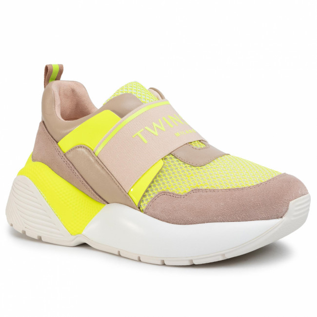 Sneakersy TWINSET - Running 201TCP152  Bic.Ottico/Gial 04830