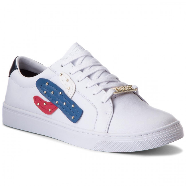 Sneakersy TOMMY HILFIGER - Embelish Essential Sneaker FW0FW03388 White 100