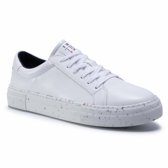 Sneakersy TOMMY HILFIGER - Premium Sustainable Sneaker FM0FM02752 White YBS