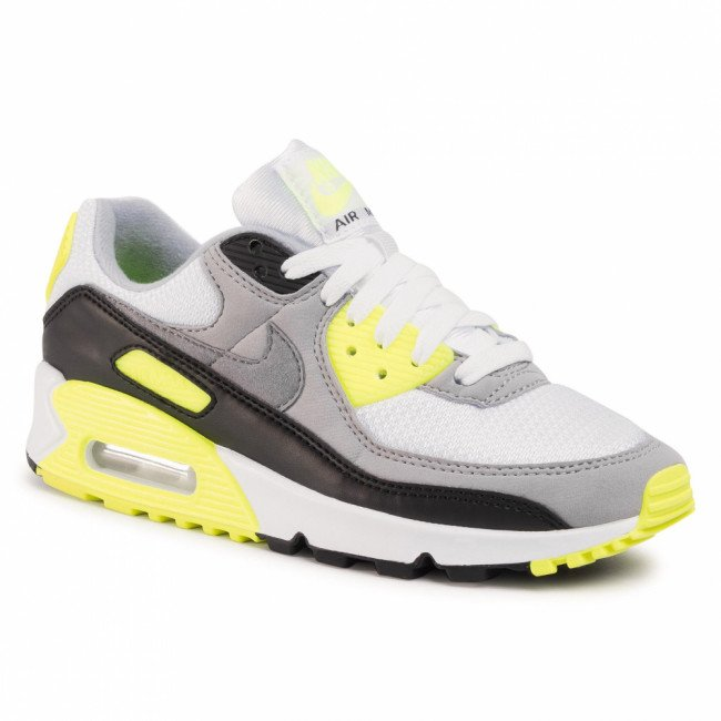 Topánky NIKE - Air Max 90 CD0490 101 White/Particle Grey/Volt/Black