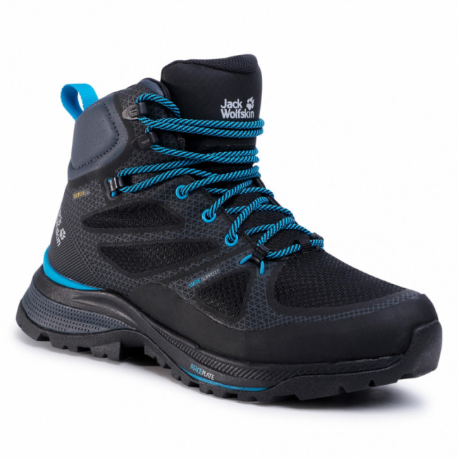 Trekingová obuv JACK WOLFSKIN - Force Striker Texapore Mid M 4038821 Black/Blue