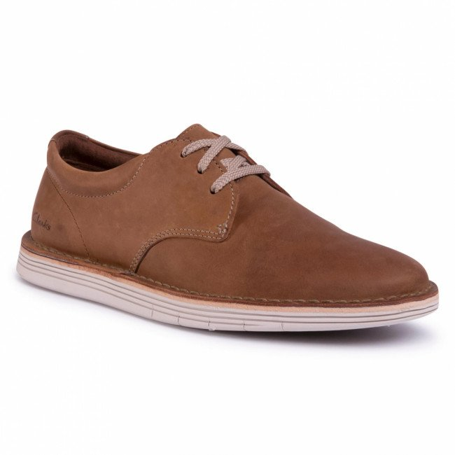 Poltopánky CLARKS - Forge Vibe 261496427 Tan Leather
