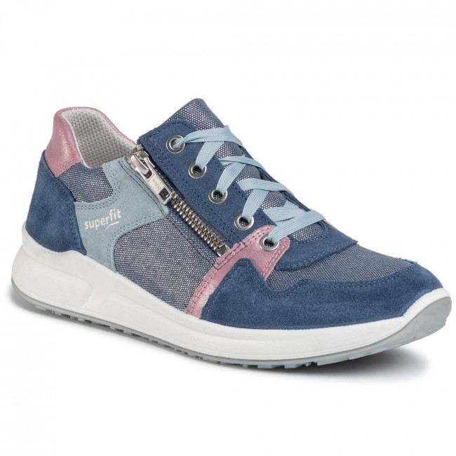 Sneakersy SUPERFIT - 6-606153-8000 S Blau/Rosa/Blau
