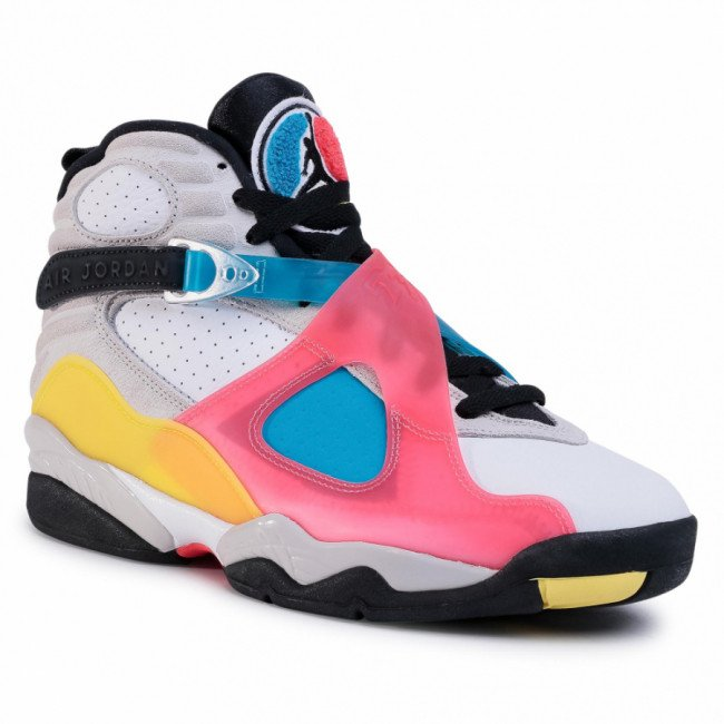 Topánky NIKE - Air Jordan 8 Retro Se BQ7666 100 White/Black/Red Orbit