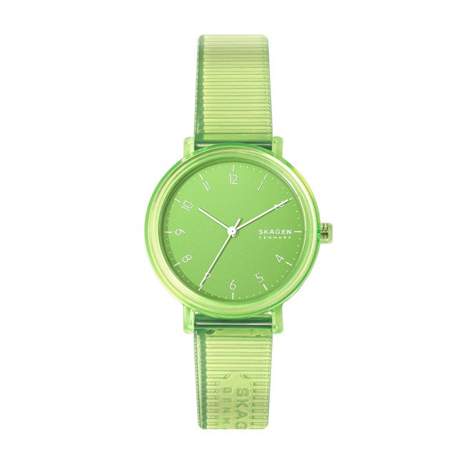 Hodinky SKAGEN - Aaren Transparent Three SKW2857 Green