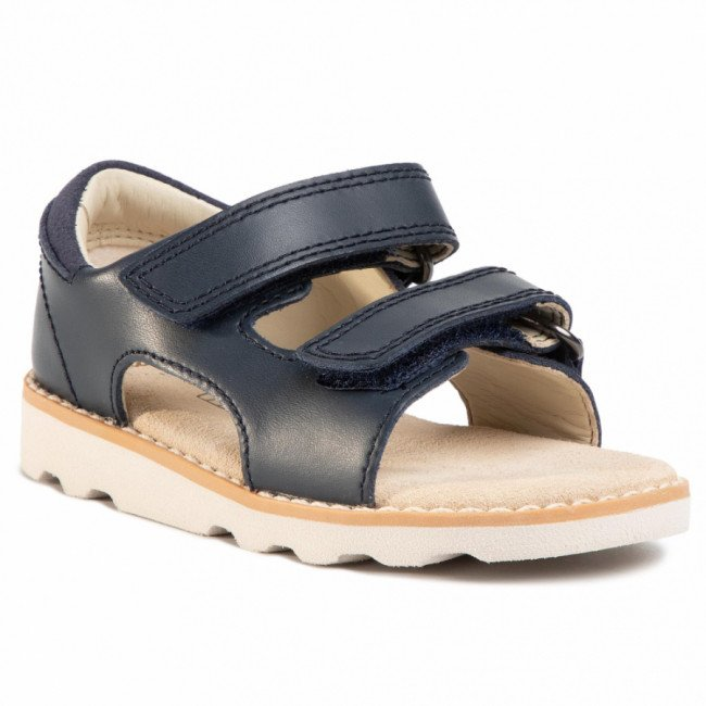 Sandále CLARKS - Crown Root T 261411337 Navy Leather