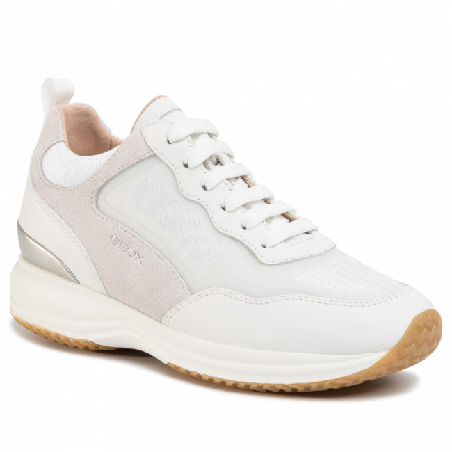 Sneakersy GEOX - D Happy A D0262A 08514 C1352 White/Off White