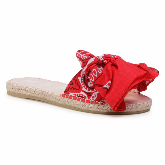 Espadrilky MANEBI - Sandals With Bow F 9.4 J0 Red Bandana