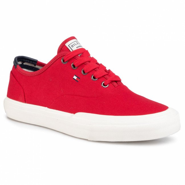 Tenisky TOMMY HILFIGER - Core Oxford Twill Sneaker FM0FM02670 Primary Red XLG