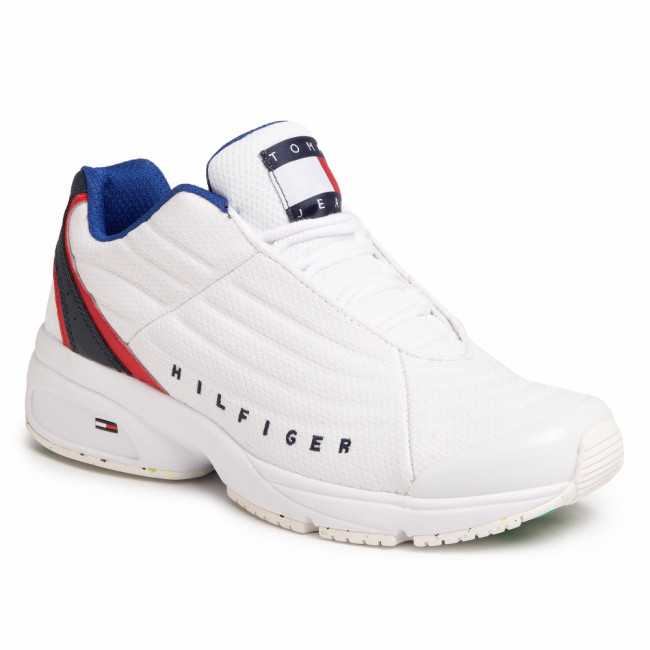 Sneakersy TOMMY JEANS - Heritage Tommy Jeans Sneaker EM0EM00441 White YBS