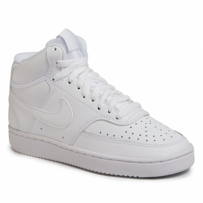 Topánky NIKE - Court Vision Mid CD5436 100 White/White/White