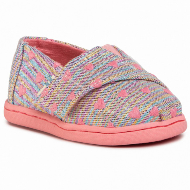 Poltopánky TOMS - Classic 10015170 Pink Multi Heartsy Twill Glimmer