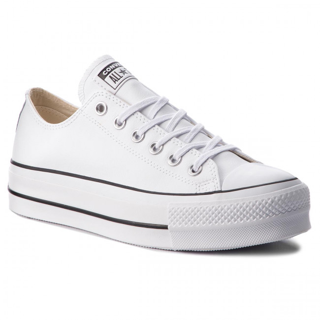 Tramky CONVERSE - Ctas Lift Clean Ox 561680C White/Black/White