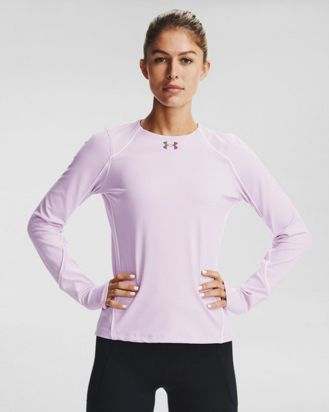 Under Armour ColdGear® Rush LS Crew Tričko Ružová