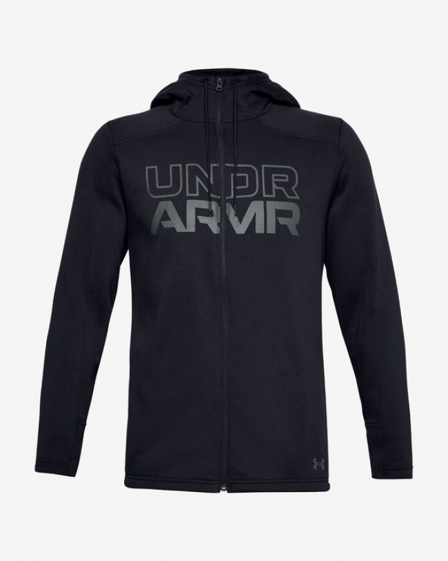 Under Armour Baseline Fleece Full Zip Mikina Čierna