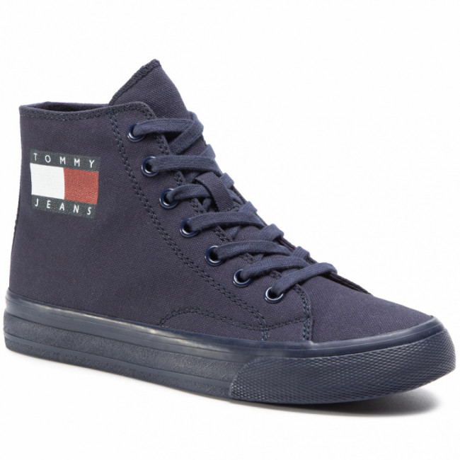 Sneakersy TOMMY JEANS - Wmns Mid Cut Lace Up Vulc EN0EN00937 Twilight Navy C87