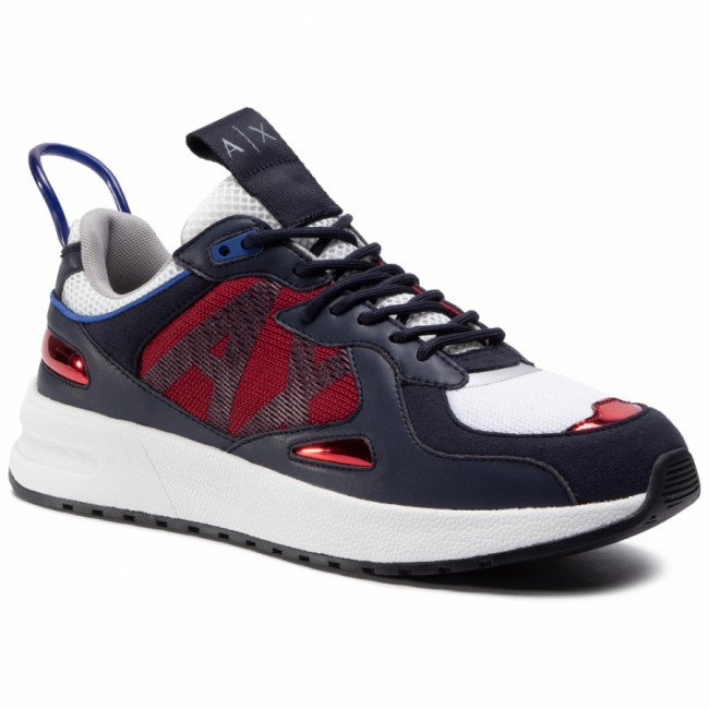 Sneakersy ARMANI EXCHANGE - XUX070 XV241 B667 Navy/Red