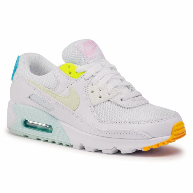 Topánky NIKE - Air Max 90 CZ0366 100  White/Barely Volt/Aurora Green