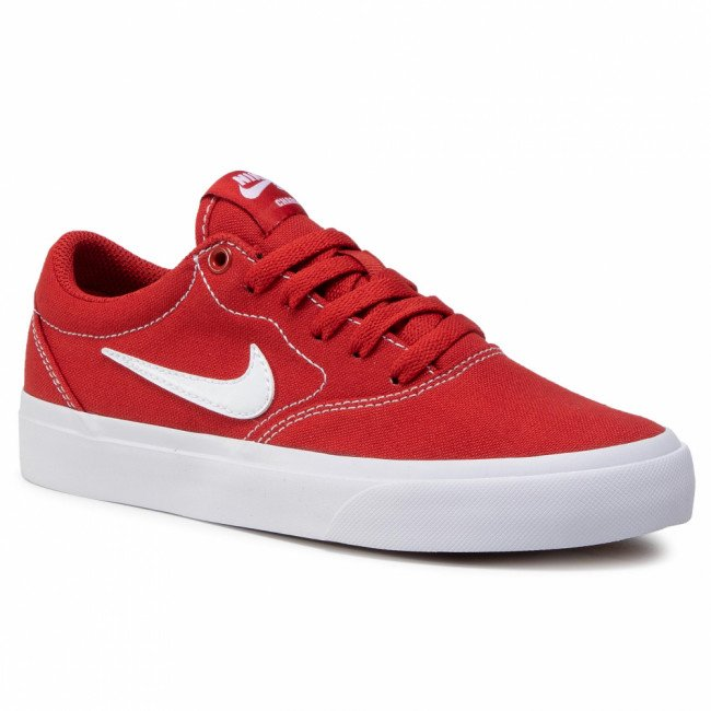 Topánky NIKE - Sb Charge Cnvs (Gs) CQ0260 600 Mystic Red/White