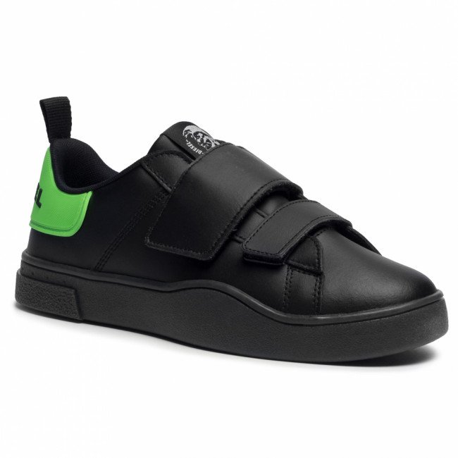 Sneakersy DIESEL - S-Clever Low Strap Y02384 P3413 H8167  Black/Green Fluo