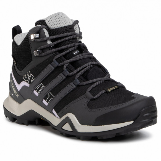 Topánky adidas - Terrex Swift R2 Mid Gtx W GORE-TEX EF3357  Core Black/Dgh Solid Grey/Purple Tint