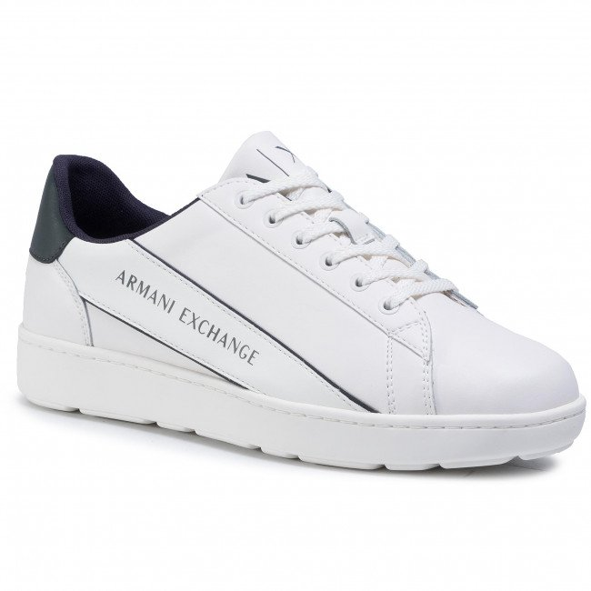 Sneakersy ARMANI EXCHANGE - XUX082 XV262 A170 Off Wht/Green