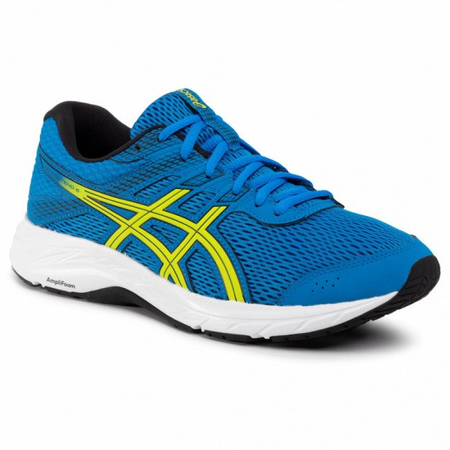 Topánky ASICS - Gel-Contend 6 1011A667 Directoire Blue/Neon Lime 401