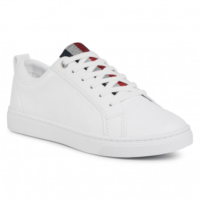 Sneakersy TOMMY HILFIGER - Casual Corporate Sneaker FW0FW05008 White YBR