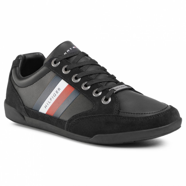 Sneakersy TOMMY HILFIGER - Corporate Material Mix Cupsole FM0FM02989 Black BDS