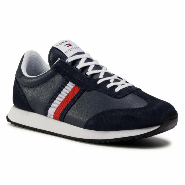 Sneakersy TOMMY HILFIGER - Lo Mix Runner Stripes FM0FM03003 Desert Sky DW5