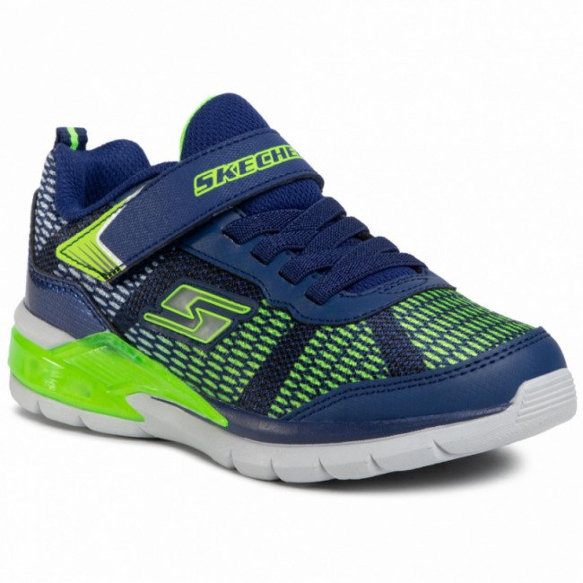 Sneakersy SKECHERS - Lave Wave 90553L/NVLM  Navy/Lime