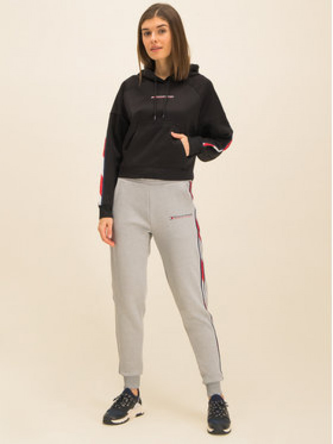 Tommy Sport Mikina Crooped With Tape S10S100389 Čierna Cropped Fit