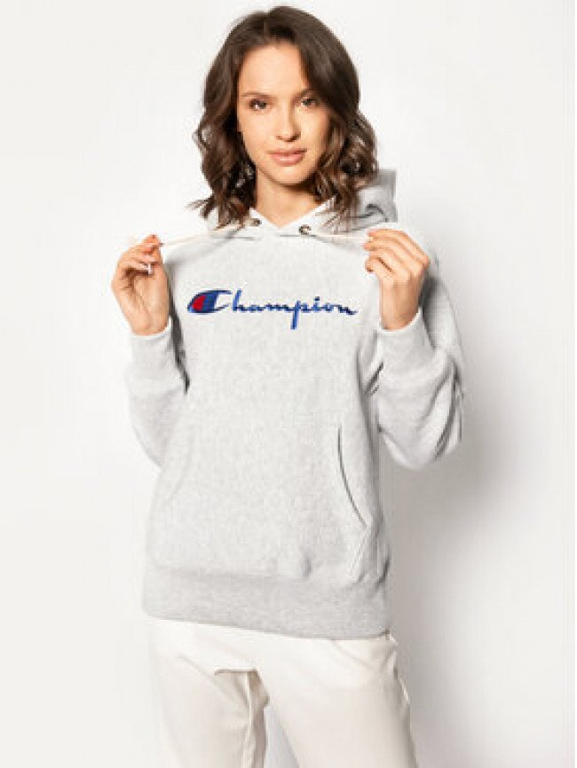 Champion Mikina Big Script 113149 Sivá Regular Fit